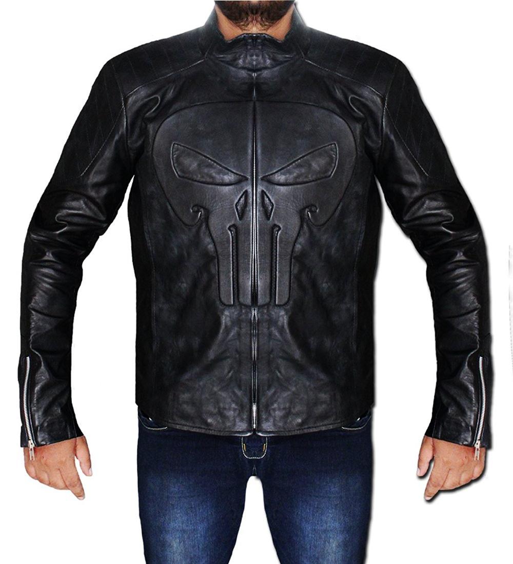 Men's Skull Frank Sheepskin Leather Jacket Leather