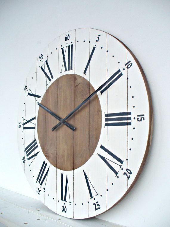 Ordinaire Large Wall Clock 24 Inch Wall Clock Wall Decor Rustic Kitchen Decor Wall  Clocks Big Wall Clock Rustic Wall Clock For Living Room