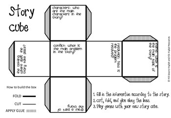 Story Study Graphic Organizer Cube Students Create A Cube