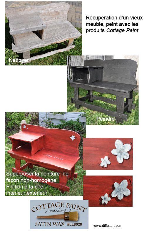 ottage paint peinture base de craie s 39 applique sur. Black Bedroom Furniture Sets. Home Design Ideas