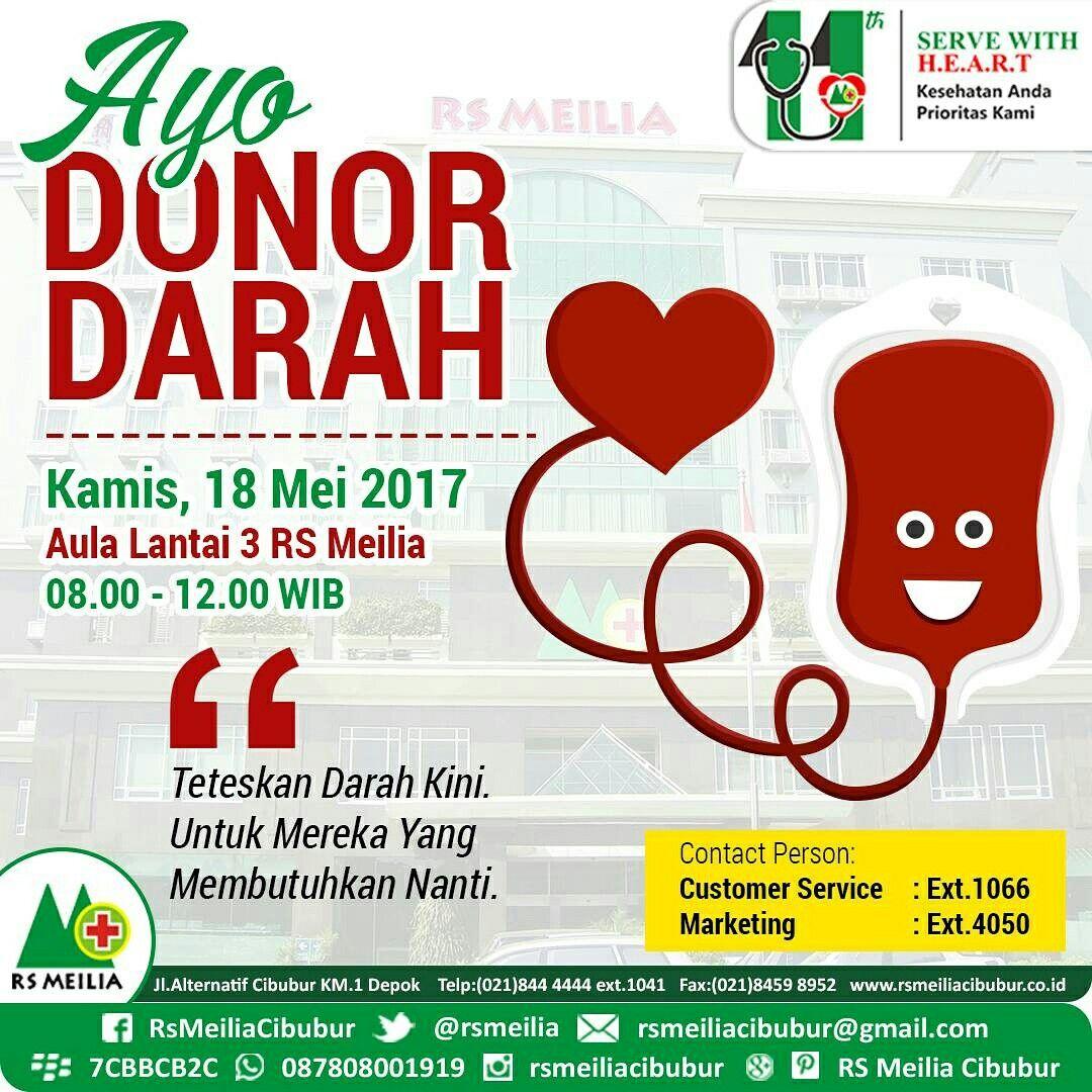 Besok Donor Darah di RS MEILIA Darah, Marketing, Kesehatan