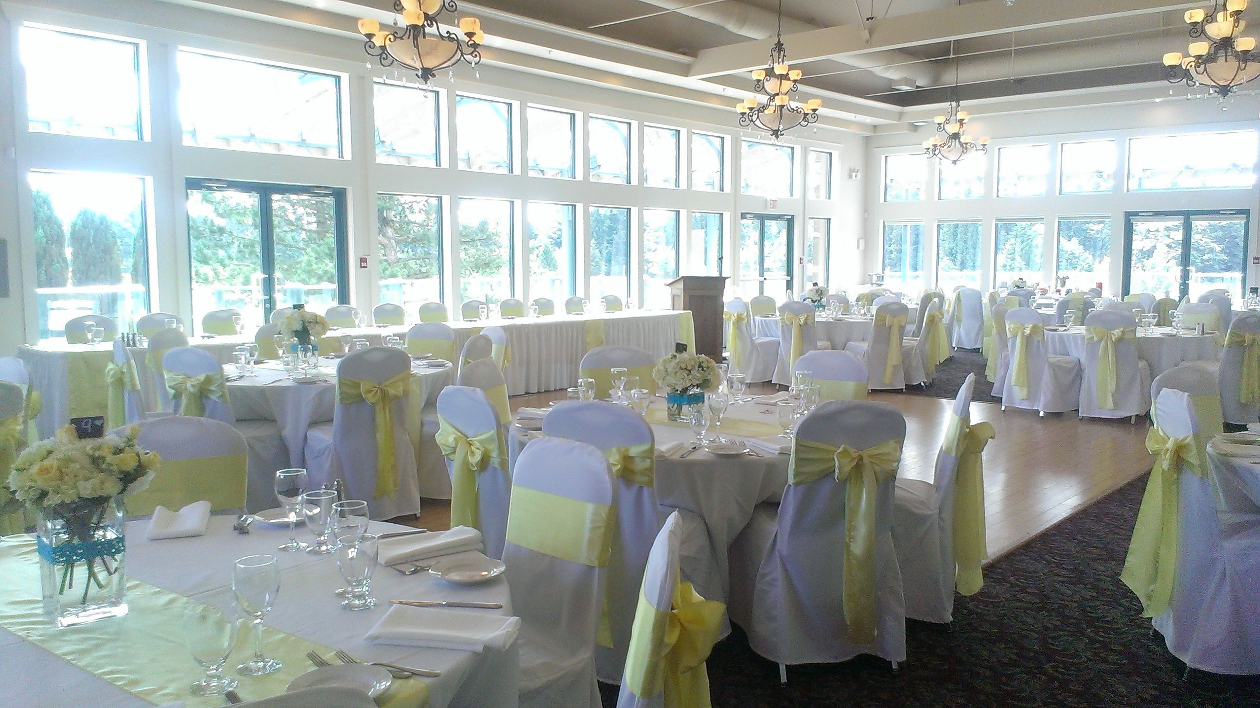 Langley Golf And Banquet Centre Wedding Venue Yellow