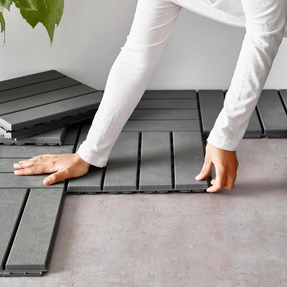 RUNNEN Decking, outdoor, gray IKEA in 2020 Patio