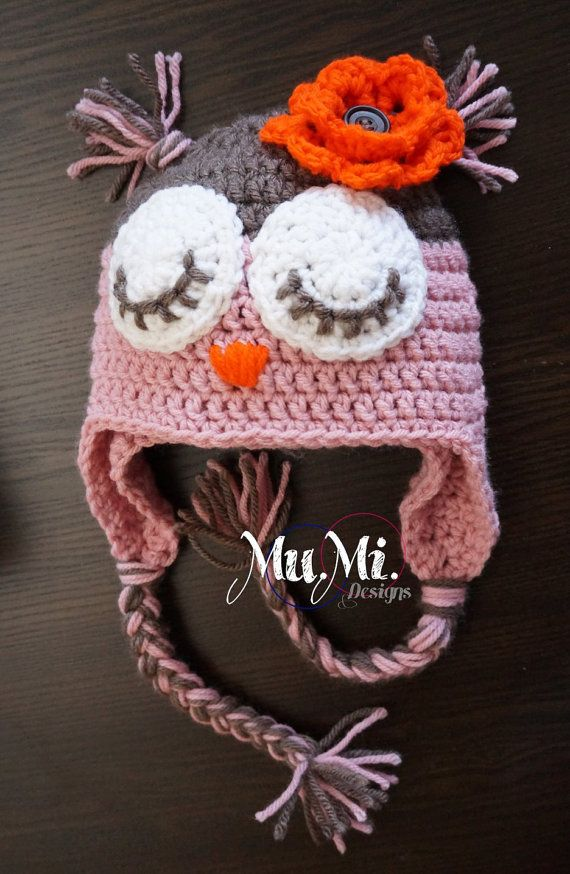 Owl Crochet Hat By Mumidesigns On Etsy Haken Voor Kindertjes