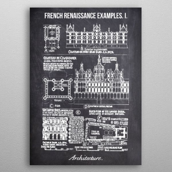 french renaissance example by FARKI15 DESIGN | metal posters - Displate | Displate thumbnail