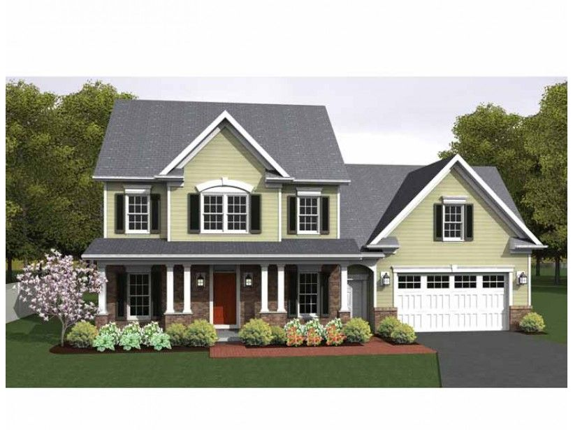 Colonial house plan with 1775 square feet and 3 bedrooms for Www dreamhomesource com