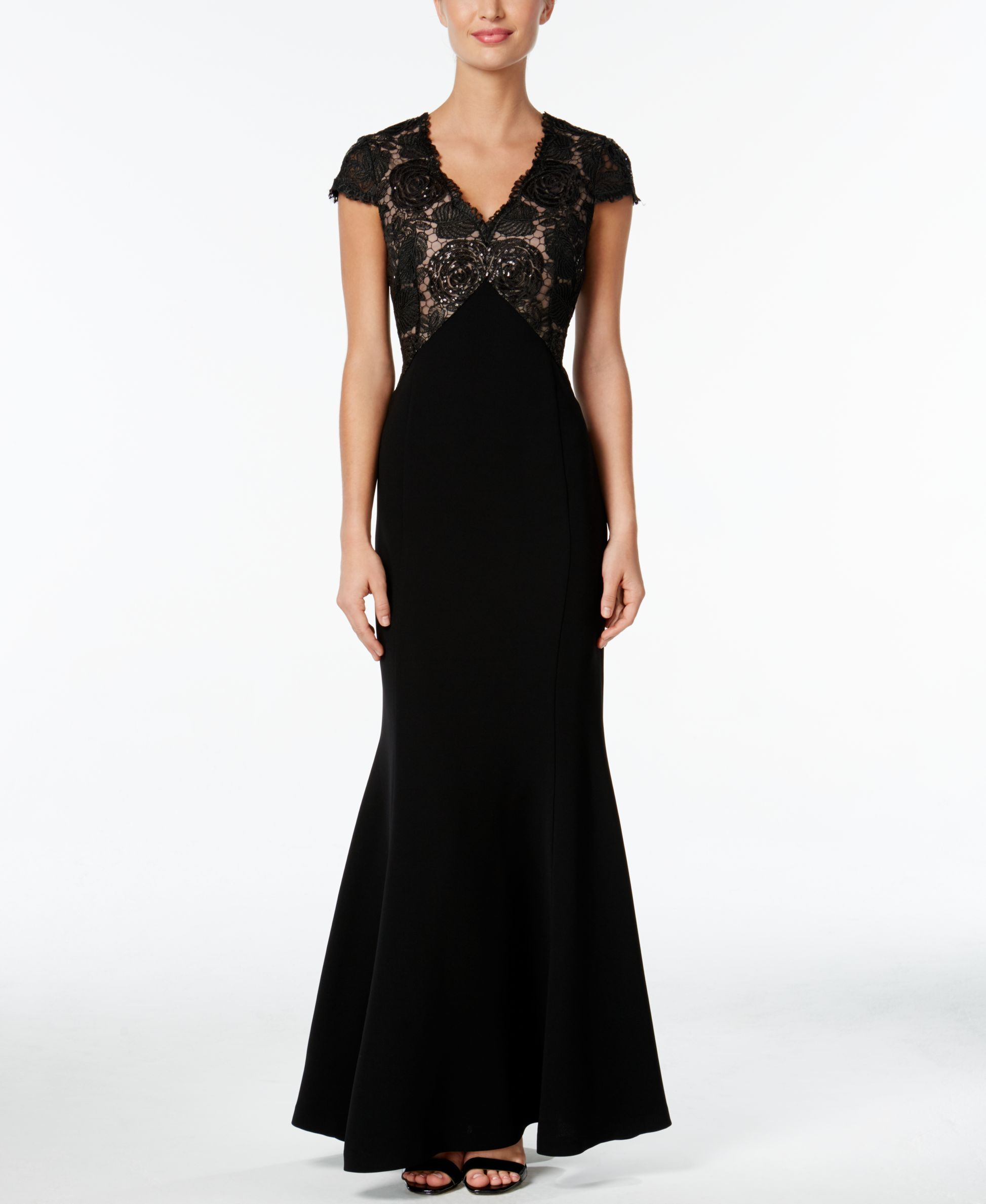 Calvin klein sequined lace mermaid gown mermaid gown and products