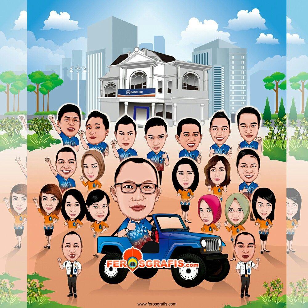 Karikatur Digital Untuk Boss Rekan Kerja Yang Hendak Pindah