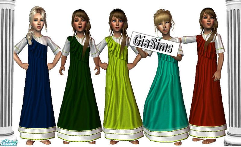 Girls Roman Set  Found in TSR Category 'Sims 2 Clothing Sets'