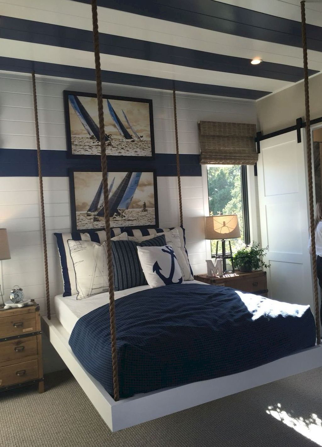 Fine Relax Like On The Beach With Nautical Style Bedroom Decorations The Idea Of Bed In 2020 Coastal Bedroom Decorating Nautical Decor Bedroom Popular Living Room