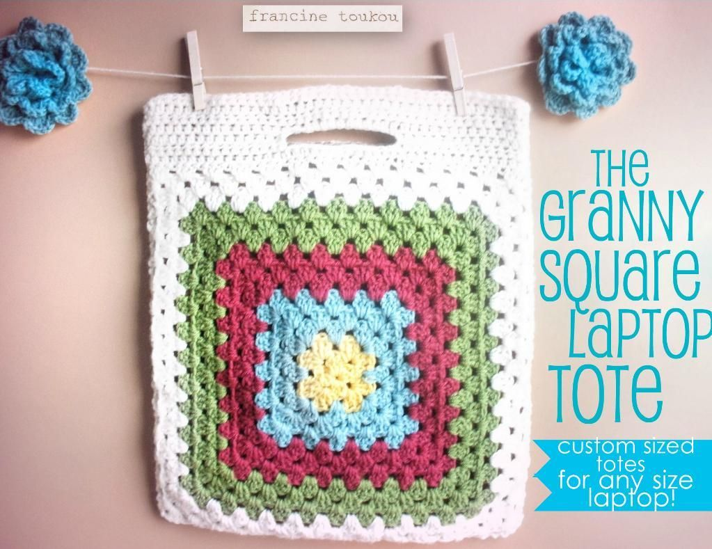 The granny square laptop pattern bags crocheting and granny the granny square laptop pattern bankloansurffo Choice Image