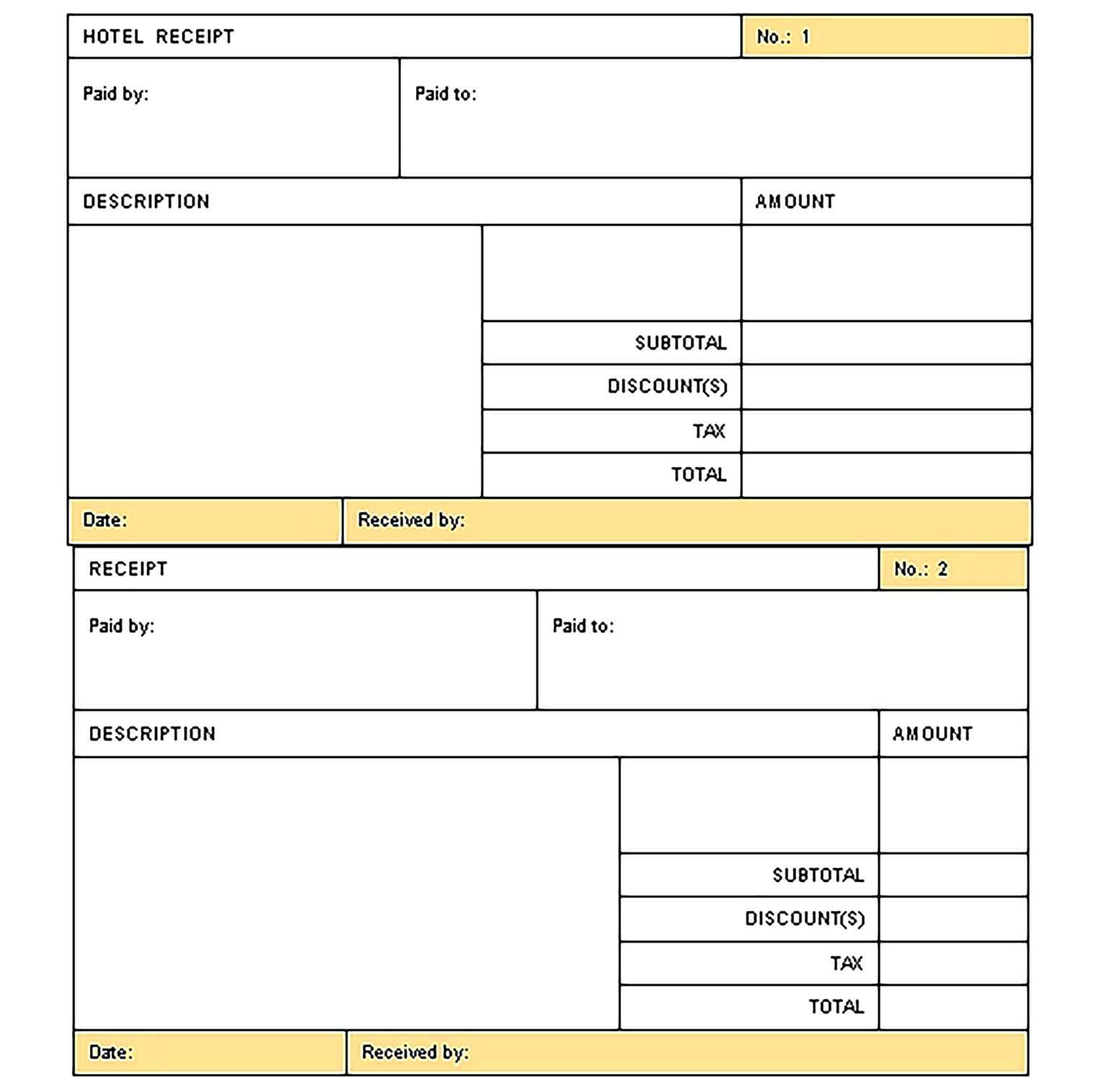 Sample Hotel Invoice Template Invoice Template Invoice Template Word Invoice Design