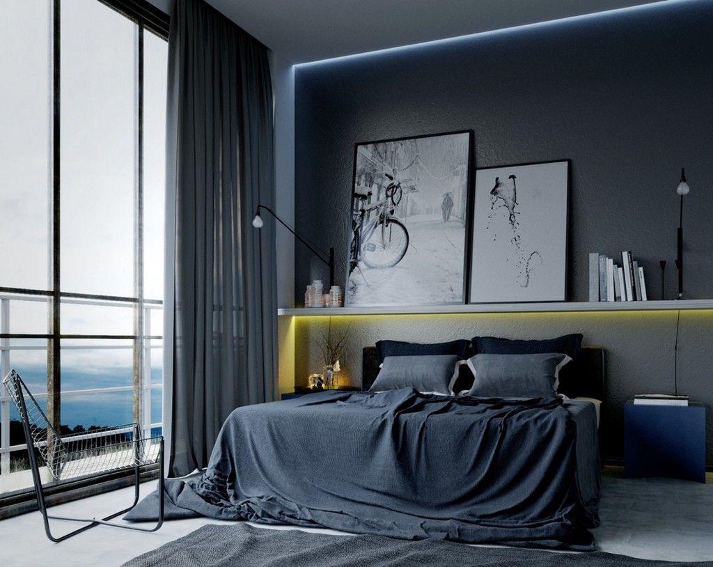 Excellent Bedroom Modern Masculine Bedroom Design Ideas Featuring Download Free Architecture Designs Lectubocepmadebymaigaardcom