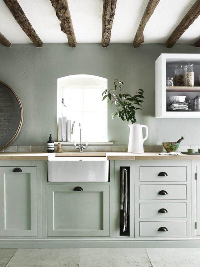 We're Calling It: The Top Kitchen Paint Colors for 2018 -   17 sage green kitchen cabinets paint ideas