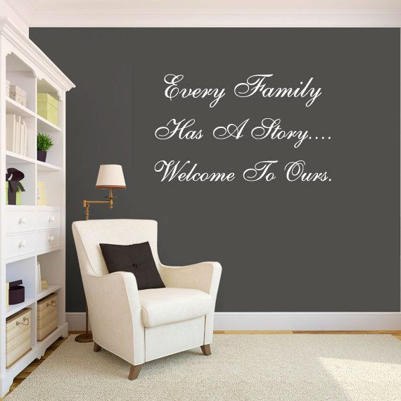 Charmant Wall Decal Quote Family Wall Art   I Like The White Quote On The Dark Wall