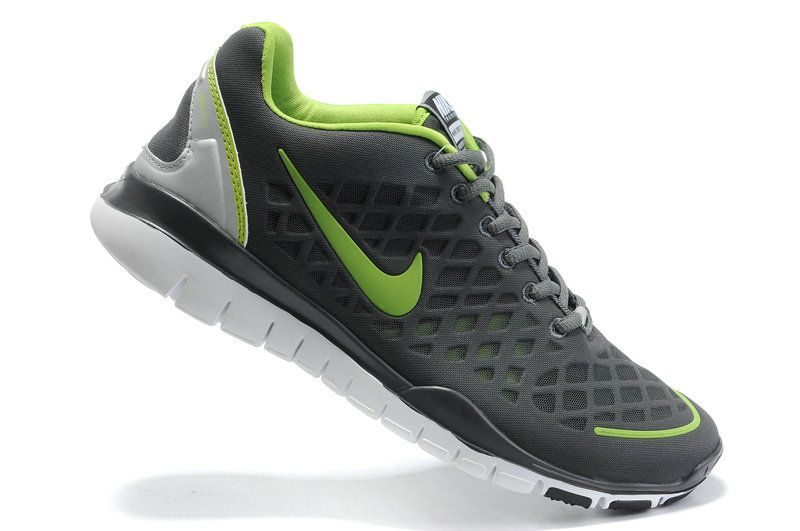 low priced 6d670 8ace9 Nike Free TR Fit Breathe Dark Grey Lime Green