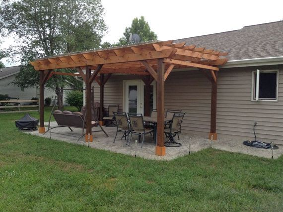 Covered Pergola Plans 12x20' Build DIY Outside Patio Wood Design Covered  Deck - Covered Pergola Plans 12x20' Build DIY Outside Patio Wood Design