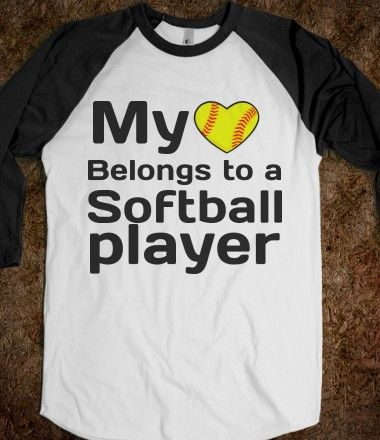 Softball Boyfriend T Shirt Softball Baseball Baseball