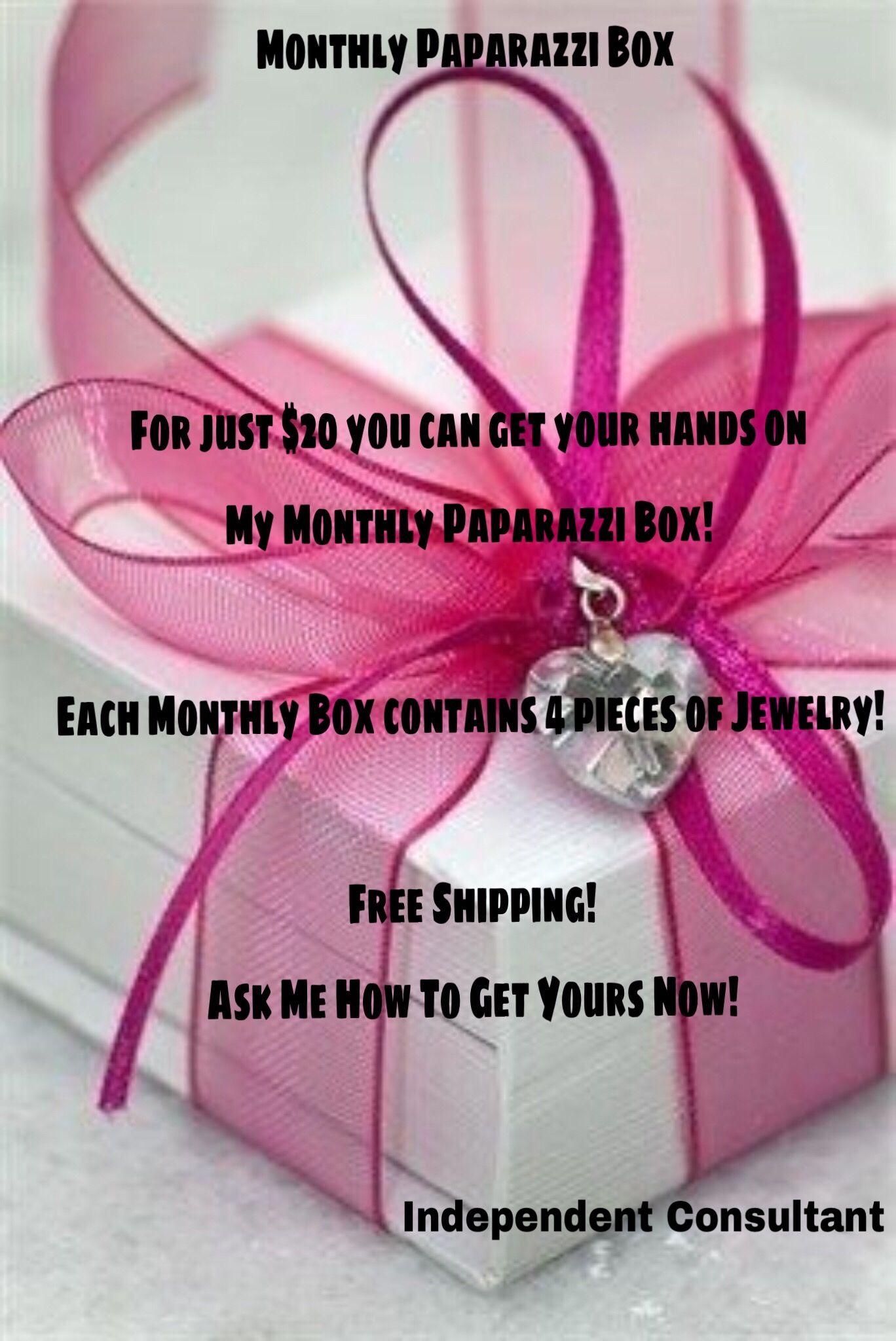 Monthly Paparazzi Box 20 Free Shipping Paparazzi