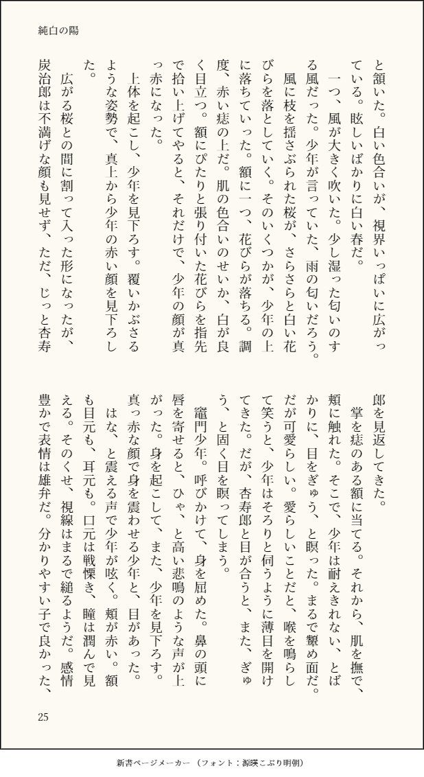 初夜 小説 ゲイ