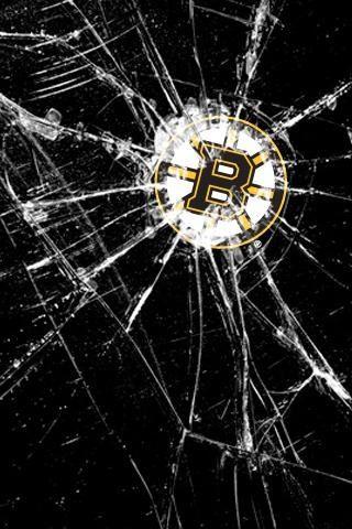 I Hockey Bruins Screen Savers Wallpapers Broken Screen Wallpaper Cracked Wallpaper