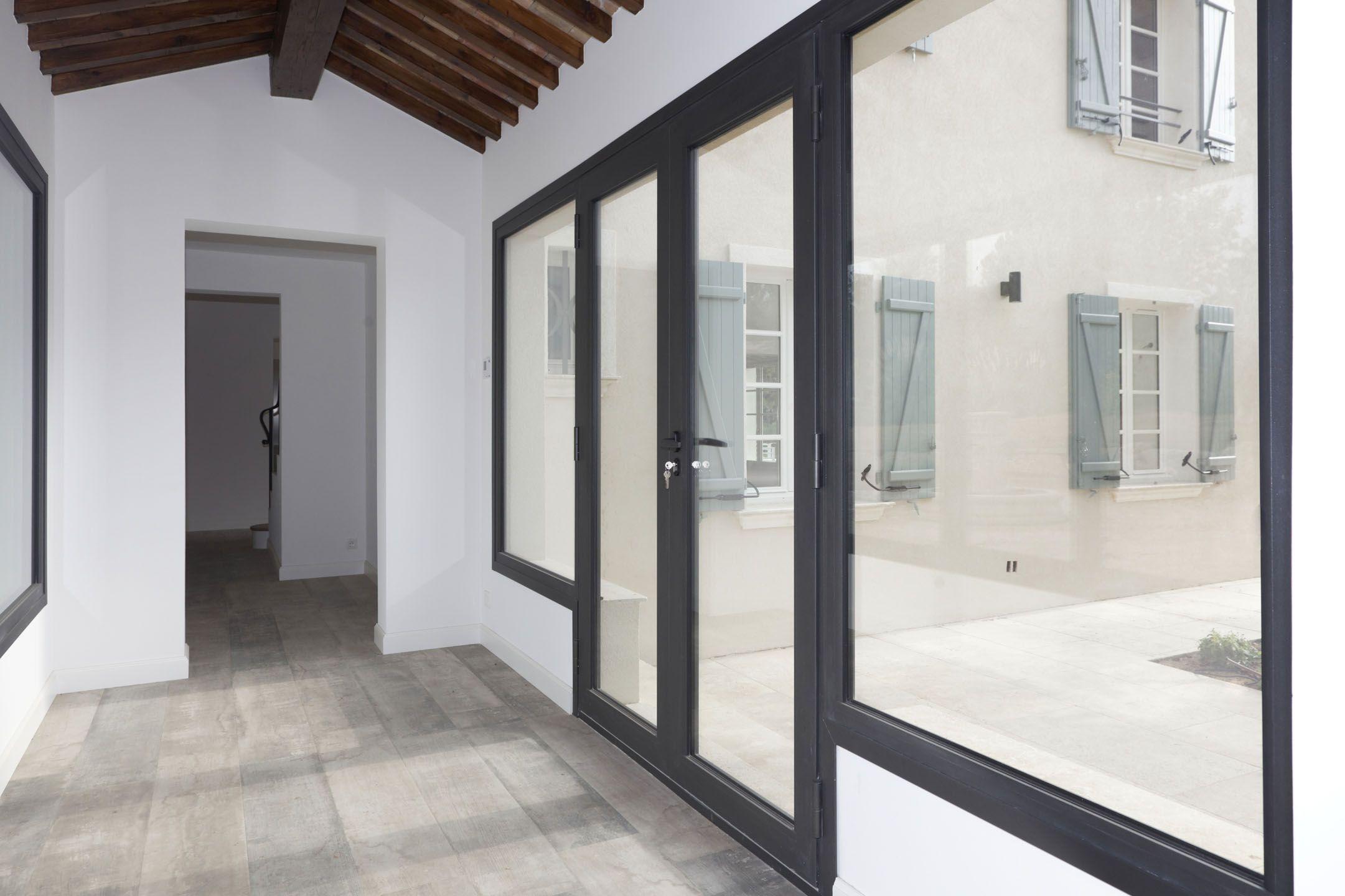 Porte de baie vitr e r alis par rafflin alu pvc for Baie vitree pvc