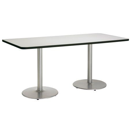Kfi Mode 36 Inch X 84 Inch Table Crisp Linen Round Silver Base