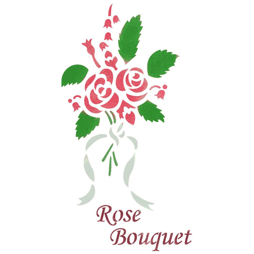 Bouquet of roses stencils for wall painting art diy decor reusable bouquet of roses stencils for wall painting art diy decor reusable template jboutiquestencils amipublicfo Images