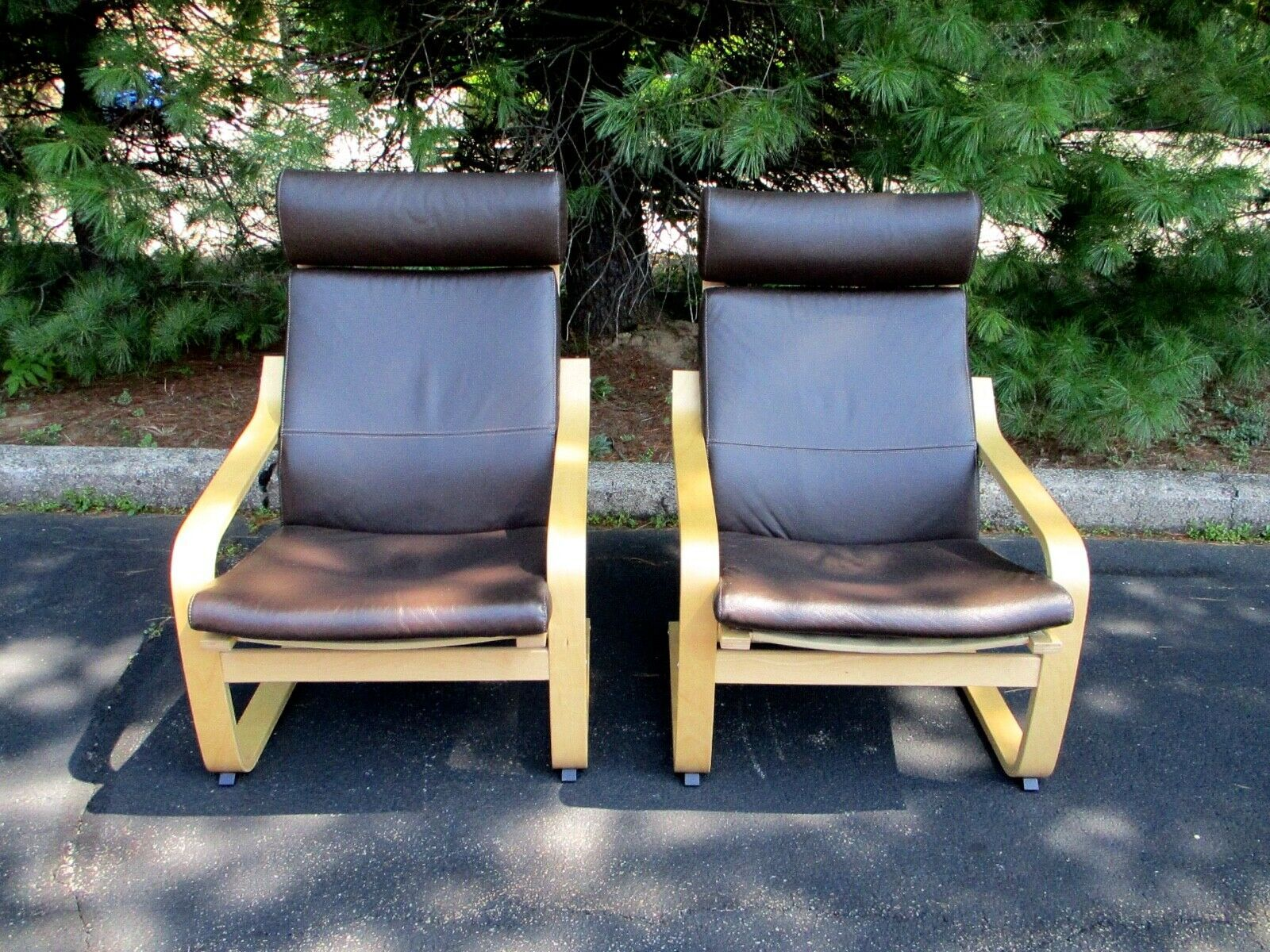 Ikea Poang Dark Brown Leather Cushion Lounge Chair Pair Excellent Chair Bedroom Ideas Of Chair Bedroom Bedroom Chair Ikea Bedroom Furniture Ikea Bedroom