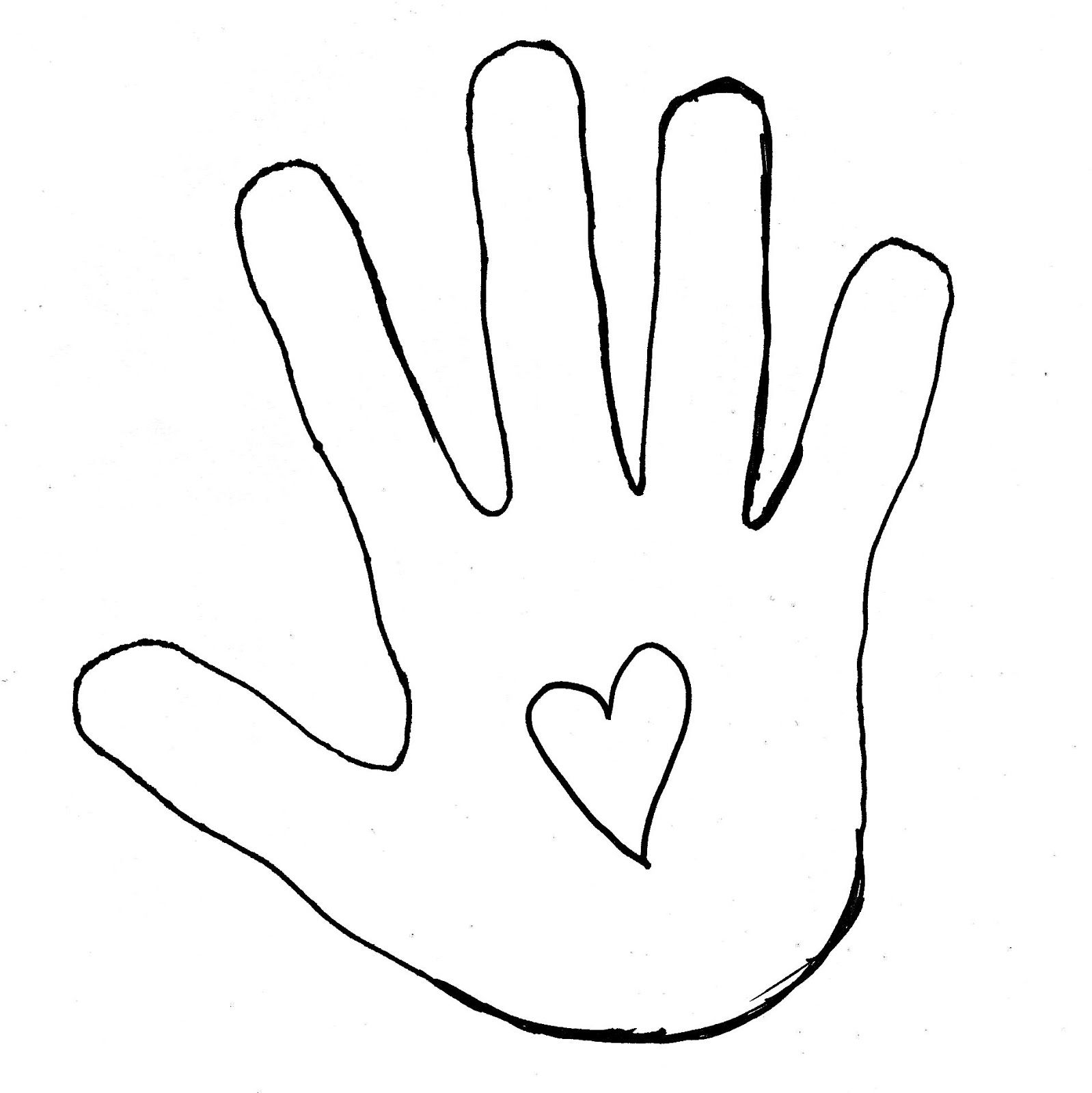 Hand Template Hand Outline Coloring Pages To Print Coloring Pages