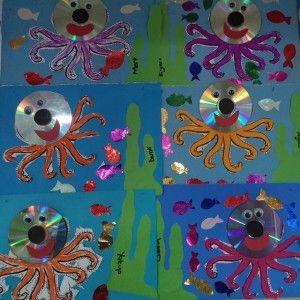 Cd octopus craft dieren pinterest octopus crafts and for Octopus craft for preschool