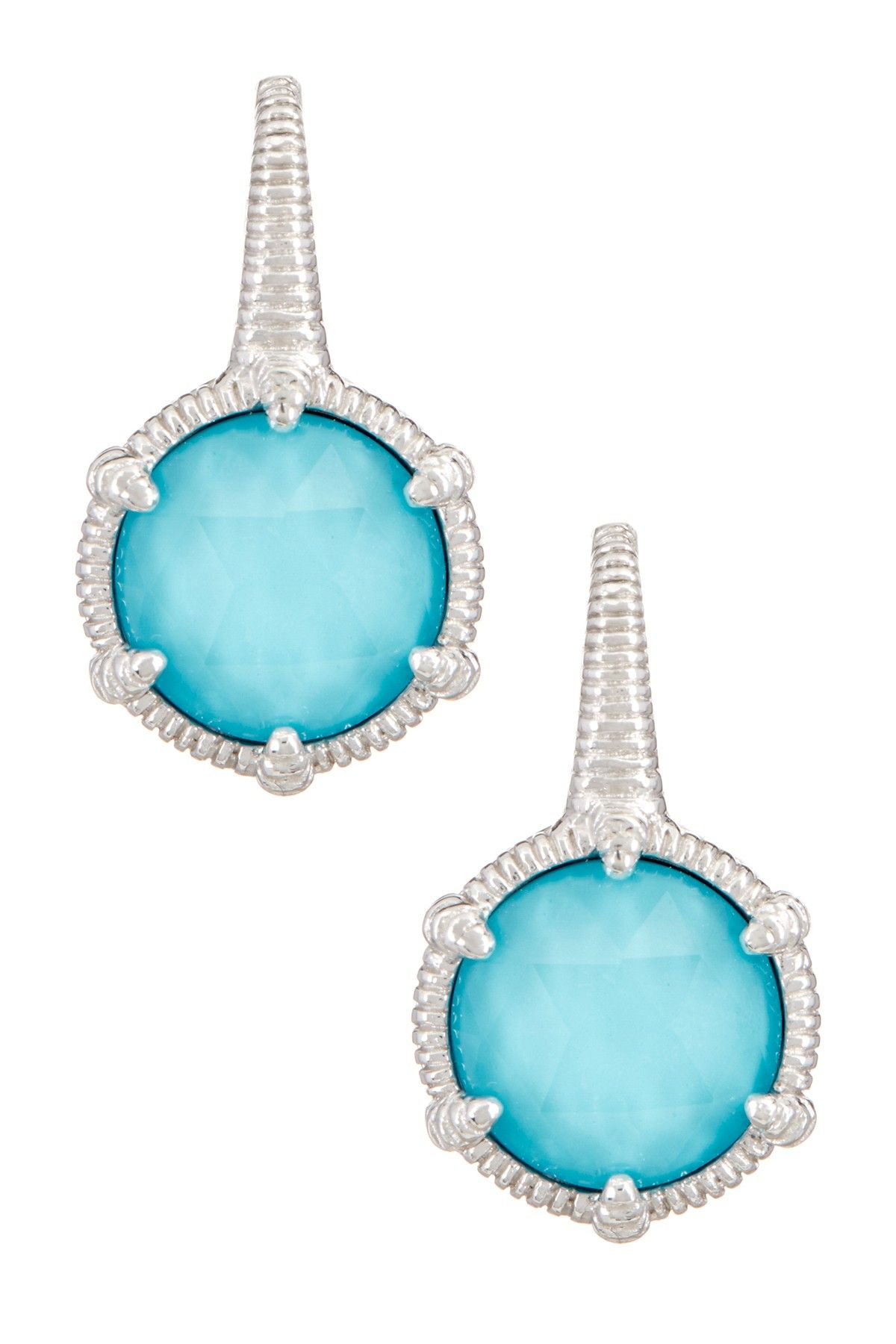 6c24062ed Judith Ripka | Eclipse Round Turquoise Doublet Earrings | Nordstrom Rack …