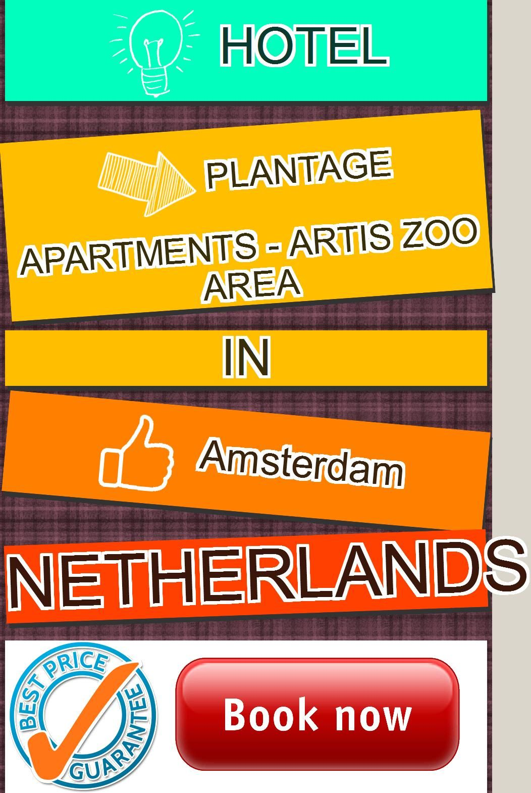 Plantage Apartments - Artis Zoo area in Amsterdam ...