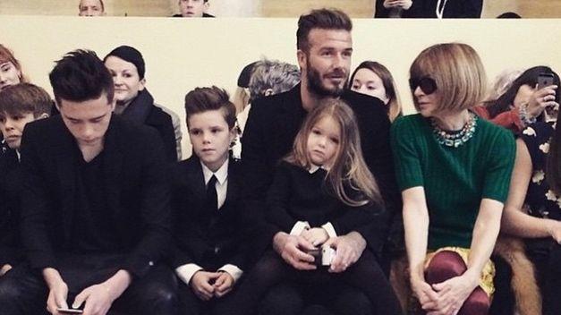 Anna Wintour no faltó al desfile de Victoria Beckham