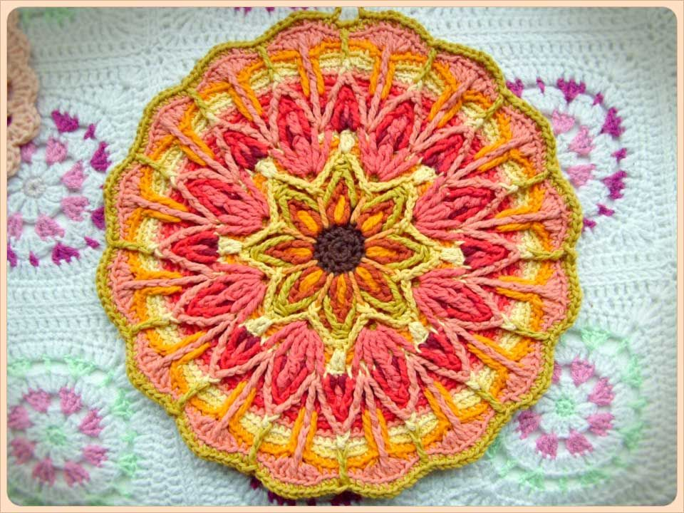 crocheted with technique called crochet overlay, looks amazing!