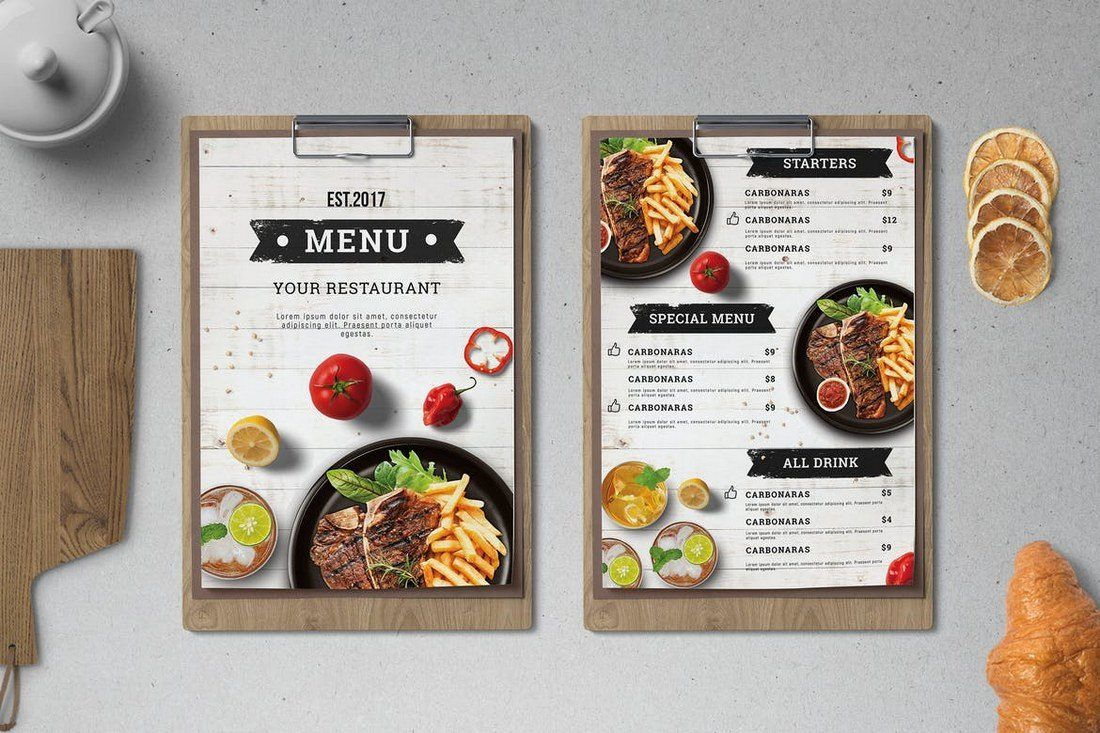 50+ Best Food & Drink Menu Templates Menu design
