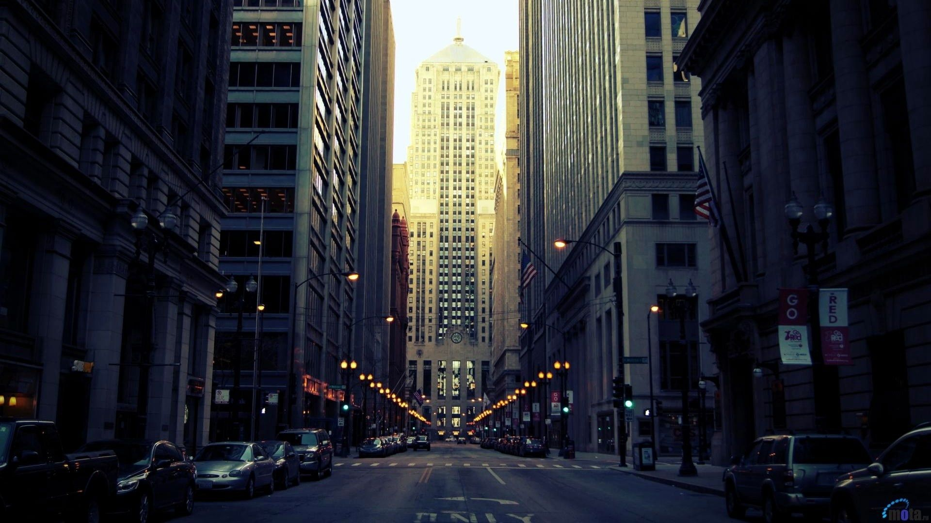 Chicago Street Hd Wallpaper Chicago Buildings Chicago