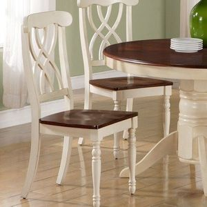 Monarch Specialties Antique White and Walnut 40-Inch High ...