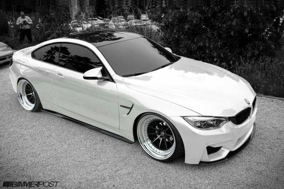 BMW F82 M4 Alpine White deep dish Bmw
