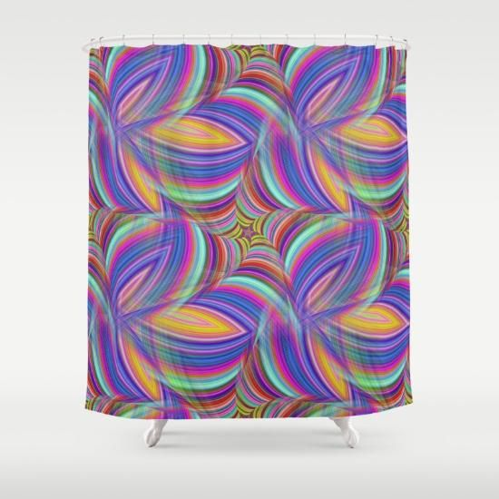 Psychedelic Shower Curtain Bags Tote Bag Unique Shower Curtain