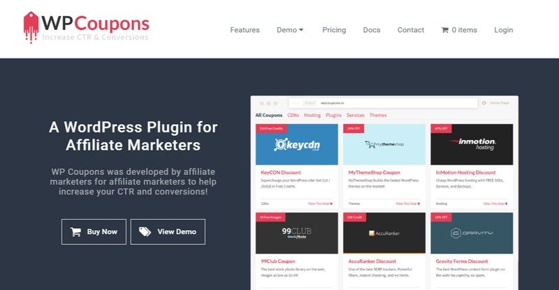WP Coupons - A WordPress Plugin for Affiliate Marketers | WordPress ...