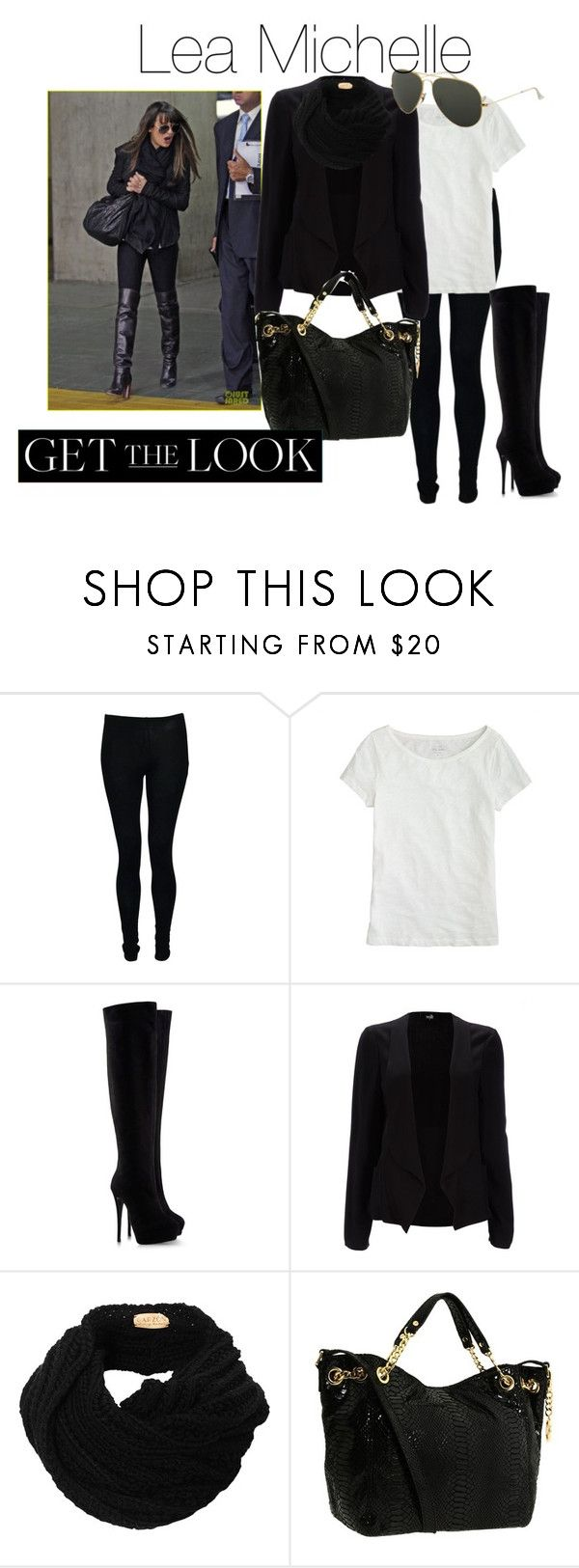 """""""Lea Michelle"""" by gloriallauca ❤ liked on Polyvore featuring J.Crew, Giuseppe Zanotti, Wallis, MICHAEL Michael Kors, Ray-Ban, glee and leamichelle"""