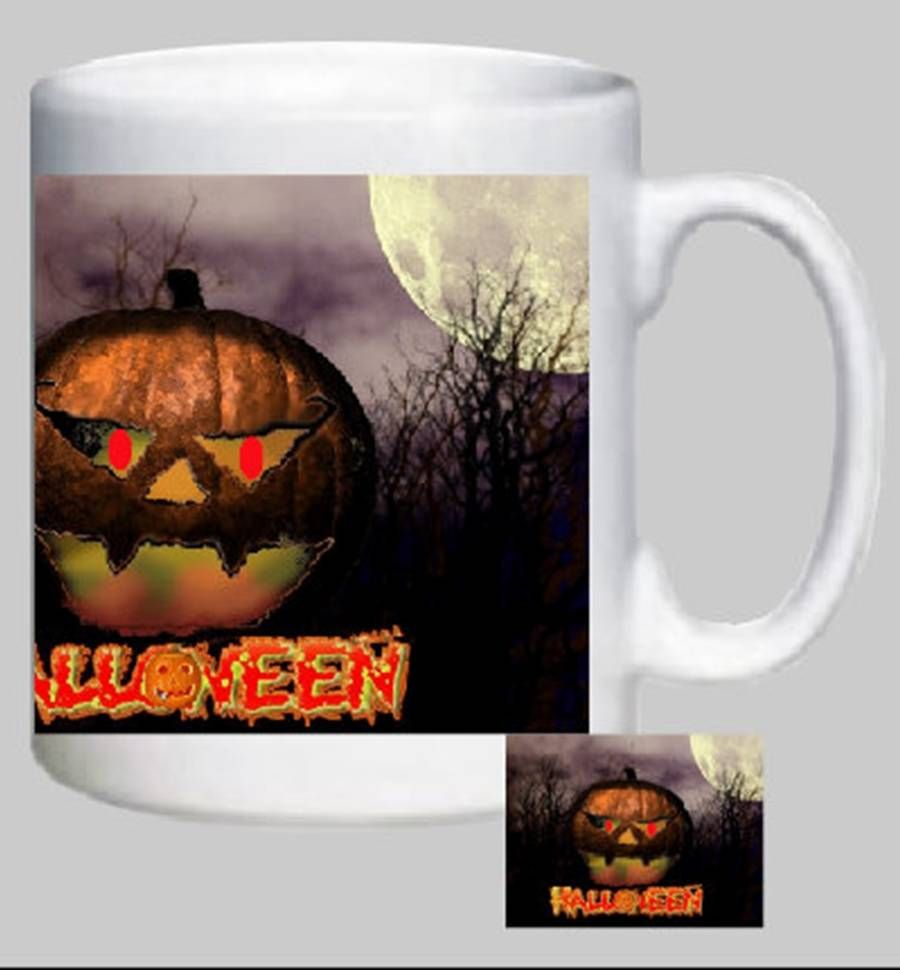 Novelty Printed Mug (design, Halloween 03) Can Be Personalized for FREE on eBid United Kingdom   133874333