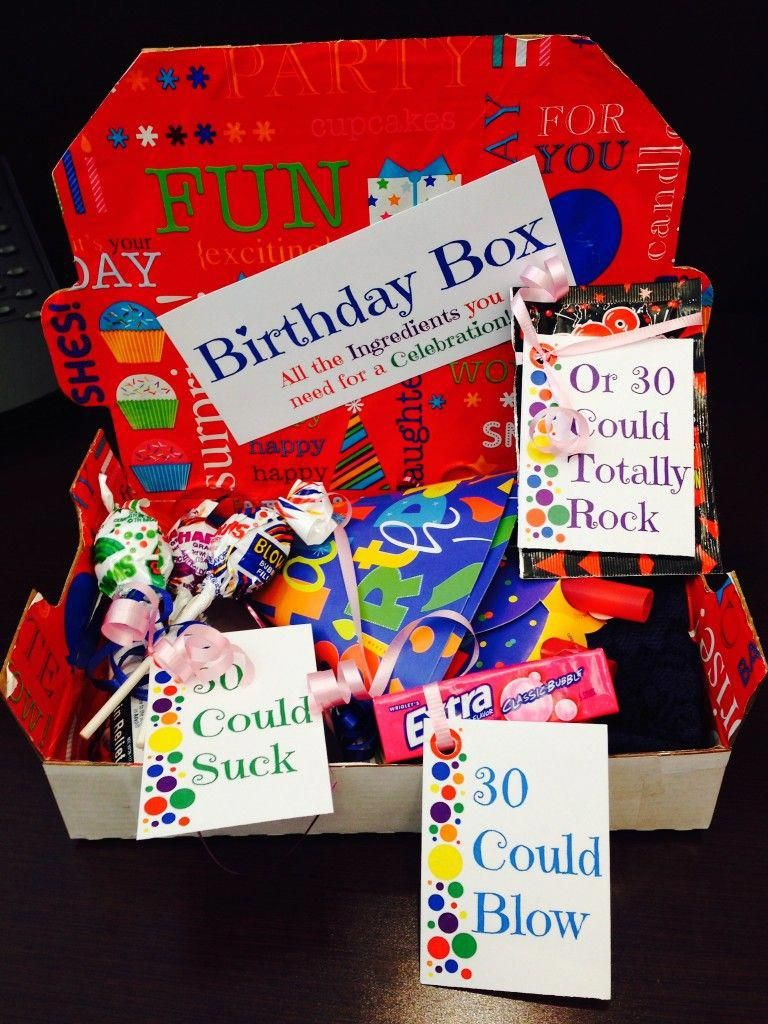 Easy DIY Birthday Box! Perfect to send to a long distance