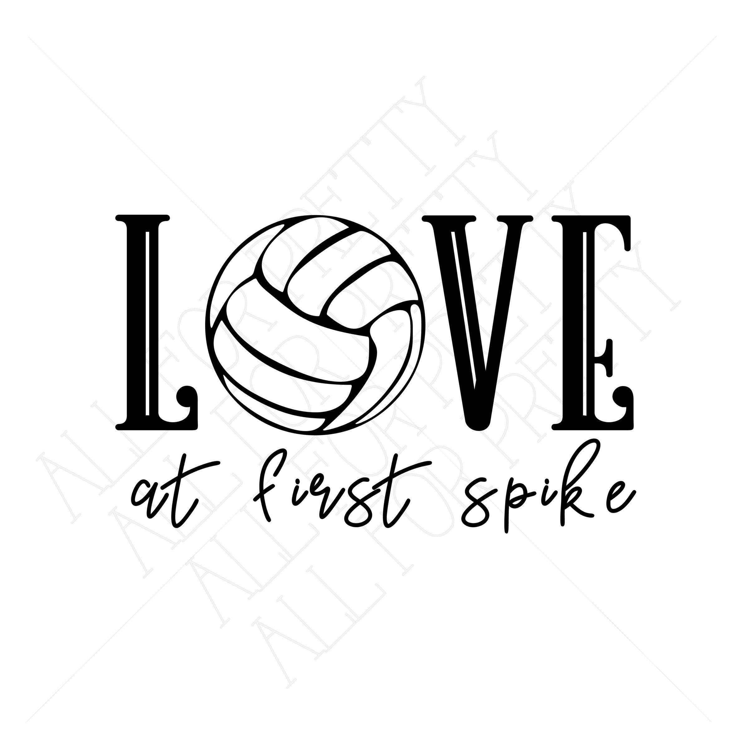 Excited To Share The Latest Addition To My Etsy Shop Love At First Spike Volleyball Theme Digital File Spike Volleyball Volleyball Humor Volleyball Wallpaper