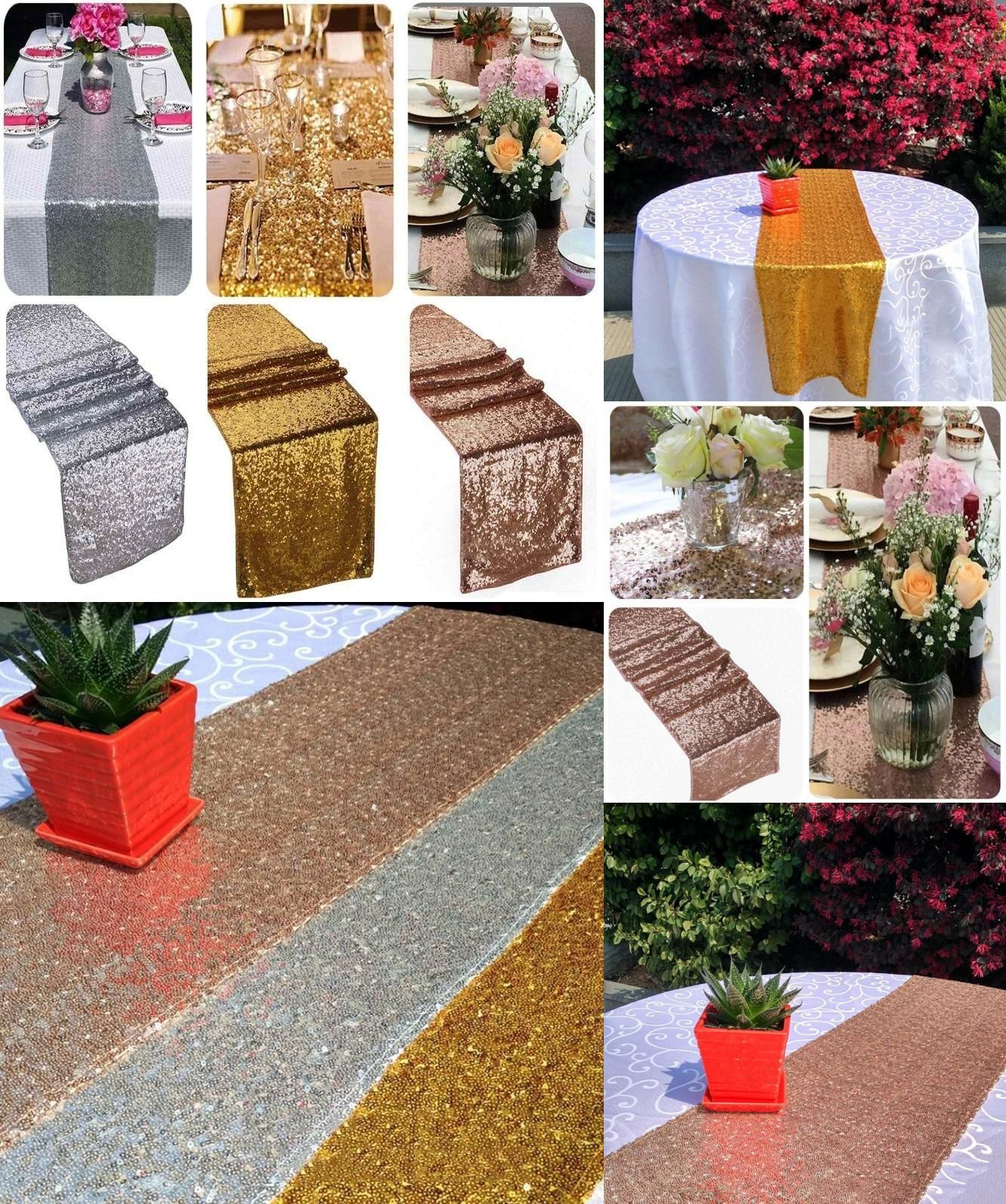 Visit to Buy Fashion Luxury Color Sequin Table Runners for