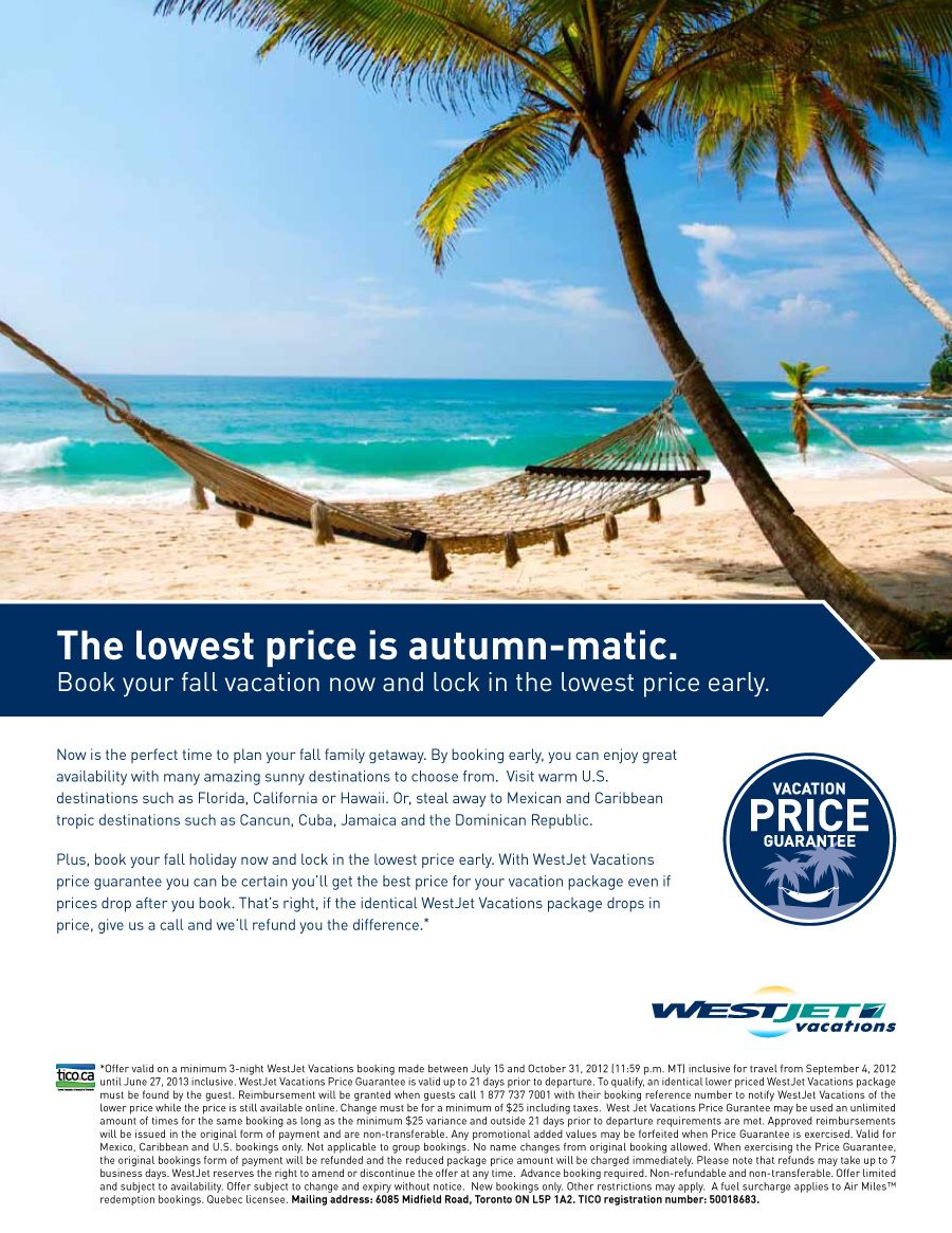 Book Your Fall Vacation Now And Lock In The Lowest Price Early Canada Wide Departures Fall Vacations Vacation Vacation Destinations