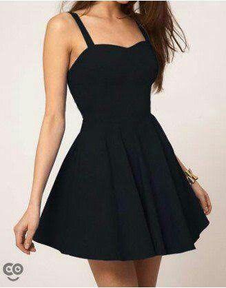 50a910fa7 Vestido preto simples