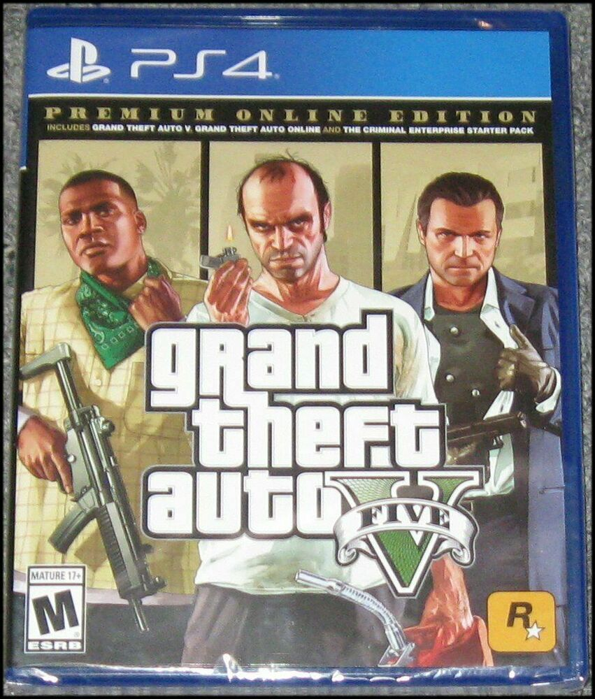 New Sony Playstation 4 Gta 5 Ps4 Grand Theft Auto V Premium Edition Ps4 Pro Ps4 Gaming Video With Images Grand Theft Auto Gta Ps4 For Sale
