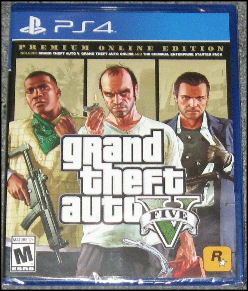 New Sony Playstation 4 Gta 5 Ps4 Grand Theft Auto V Premium Edition Ps4 Pro Ps4 Gaming Video Grand Theft Auto Rockstar Games Gta Gta